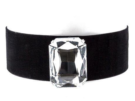 Choker aksamitny kryształ