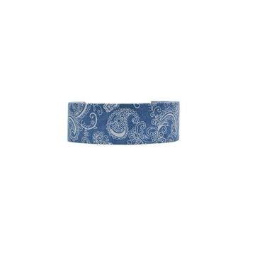 Choker wzorzysty niebieski