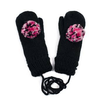 Rękawiczki pompon black